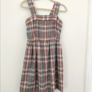Vintage Wool Plaid Jumper dress
